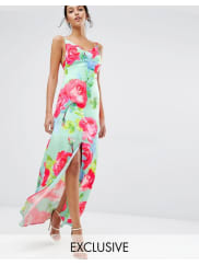 Every CloudRose Print Strappy Maxi Dress - Multi print