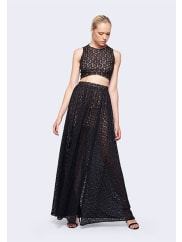 Fame & PartnersBlack Lovelight Two Piece Dress