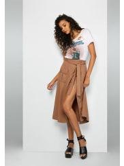 Fame & PartnersDark Tan Sahara Skirt Dress
