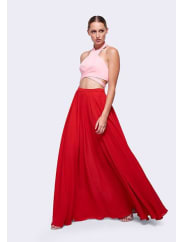 Fame & PartnersIcing Pink and Red Phillipa Two Piece Dress