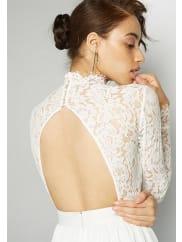 Fame & PartnersIvory Laced Victoria Dress Dress
