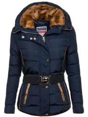 FIERY BLUEBolf Damen Winterjacke Dunkelblau 11