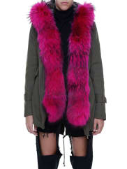 Forte CouturePARKA JACKET WITH COULISSE, size 38, Verde