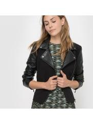 French ConnectionBiker-Blouson Alana Mix LS Biker Jacket, Reissverschluss