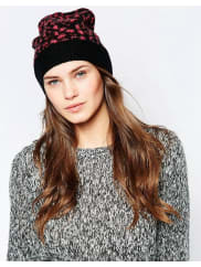French ConnectionElectric Leopard Beanie Hat - Pink