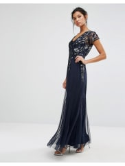 Frock and FrillEmbellished Maxi Dress - Navy