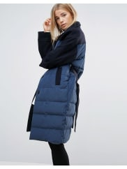 GanniTaylor Tube Quilted Coat - Total eclipse
