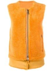 Giorgio Bratozip-up gilet, Womens, Size: 44, Yellow/Orange