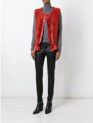 Giorgio Bratozipped round neck gilet, Womens, Size: 42, Red