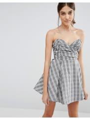 GlamorousBabydoll Dress - Grey