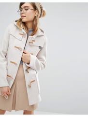 GloverallFiitted Duffle Coat with Hood in Oatmeal