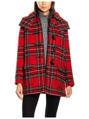GloverallWomens Tartan A Line Freda Coat