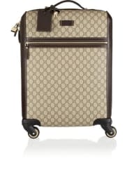 GucciGran Turismo Leather-trimmed Coated-canvas Travel Trolley - Beige
