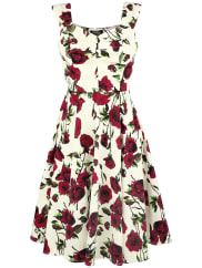 H&R London50s Ditsy Rose Floral Summer Dress Kleid weiß/rot