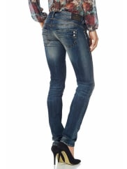HerrlicherSlim-fit-Jeans »Piper Slim« mit Stretch-Anteil, blau, 30, Länge 32, light-blue
