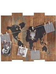 HOME AFFAIREDeko-Holzbrett »Weltkarte«, braun, braun