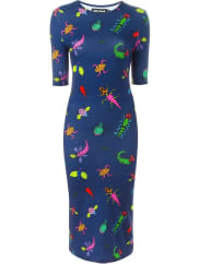 House Of Hollandbug print midi dress