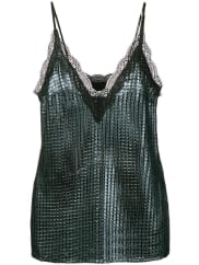 House Of HollandChainmail slip blouse, Womens, Size: 14, Blue