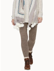 HueTweed knit legging