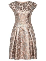 HUGO BOSSDress in cotton blend with metallic effects: Kristena