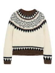 J.crewHudson Intarsia Knitted Sweater - Cream