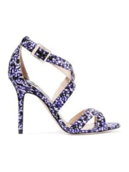 Jimmy Choo LondonLottie Floral-jacquard Sandals - Dark purple