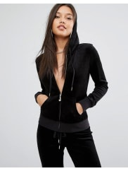 Juicy CoutureBling Velour Hoody - Pitch black