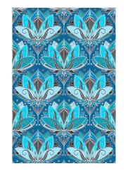 JuniqeArt Deco Teal Lotus Pattern-Tapete