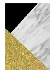 JuniqeGold Marble Collage-Tapete