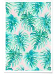 JuniqeParadise Palm Blush - Premium Poster