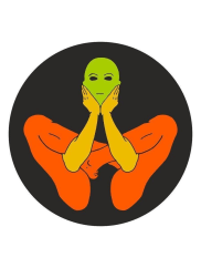 JuniqePatanjali Yoga Garbhasana - Leinwandbild