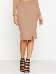 Kendall + KylieCompact Overlap Pencil Skirt - Macaroon, Size M