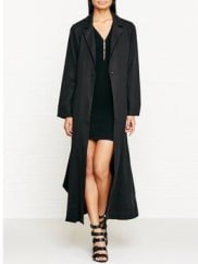 Kendall + KylieDuster Coat - Black, Size Xs