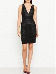 Kendall + KylieGrid Laser Cut Dress - Black, Size Xs