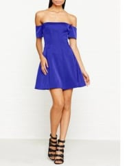 Kendall + KylieOff Shoulder Seamed Dress - Surf The Web, Size Xs