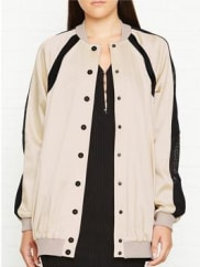 Kendall + KylieOversized Bomber Jacket - Pale Gold, Size Xs