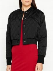 Kendall + KylieQuilted Bomber Jacket - Black, Size Xs
