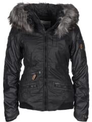 KhujoBryanna Fake Leather W Chaqueta de invierno negro