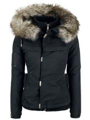 KhujoMeralda Girl-Winter-Jacke schwarz