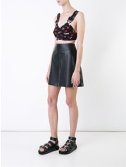 KTZtattoo print bralet, Womens, Size: Medium, Black