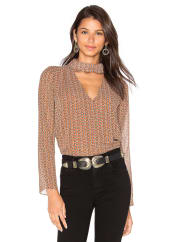 Lucy ParisStephanie Keyhole Top in Brown