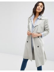 MangoDouble Breasted Belted Trench Coat - Light beige