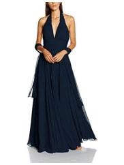 MascaraDamen Kleid Pleated Halter Gown