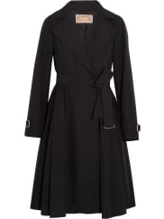 Max MaraPleated Shell Trench Coat - Black