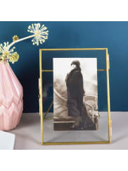 MiaFleurBrass Glass Photo Frame