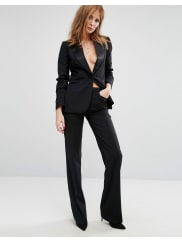 Millie MackintoshHigh Waisted Flared Suit Trousers - Black