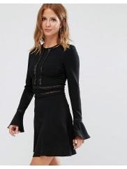 Millie MackintoshFluted Sleeve Dress - Black