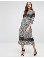 Millie MackintoshLeopard Print Midi Dress - Blue