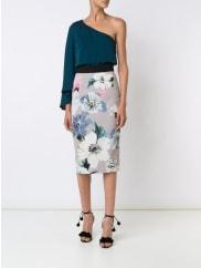 Millyone shoulder top, Womens, Size: 10, Green, Silk/Spandex/Elastane