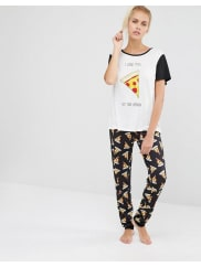 MinkpinkPizza Love PJ Set - Multicoloured